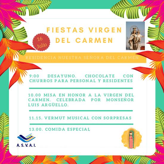16 Julio- Fiestas virgen del Carmen